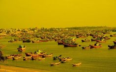 Boats in Mui Ne.  Visit and explore the beauty of Vietnam.
