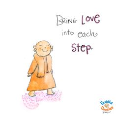 Today's Doodle: magic feet - Bring love into each step.