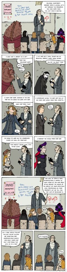 Javert teaches stalkers anonymous. BAHAHAHA!!!!! These are all so perfect! Know I pinned this before but had to again...