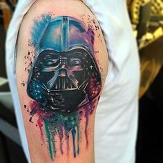 What does star wars tattoo mean? We have star wars tattoo ideas, designs, symbolism and we explain the meaning behind the tattoo. Tattoos Skull, Wolf Tattoos, Cute Tattoos, Sleeve Tattoos, Nerd Tattoos, Tatoos, Movie Tattoos, Anime Tattoos, Occult Tattoo