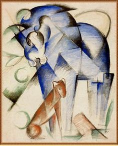 Franz Marc: Horse and dog (1913)