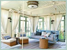 love the swing, the ceiling, curtains