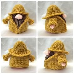 Fisherman Gonk. This free pattern is for the clothing only. Gonk pattern sold separately.