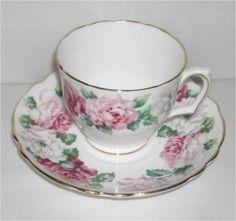 Crown Staffordshire Fine Bone China | Crown Staffordshire Fine Bone China Cup and Saucer Trinity Rose ...
