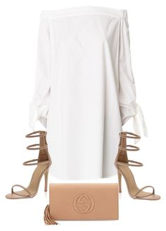 A fashion look from May 2015 featuring TIBI tunics e Gucci clutches. Browse and shop related looks. White Outfits, Classy Outfits, Casual Outfits, Look Fashion, Autumn Fashion, Fashion Outfits, Womens Fashion, Fashion Tips, Mode Streetwear