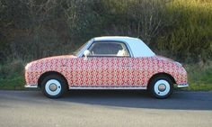 I love this totally bespoke Nissan Figaro. Made to order for Boden by Figs4u at the Bristol workshop.