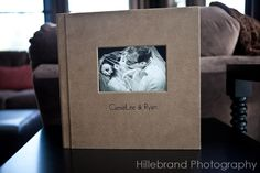 12x12 3500 Series. The Cover Inset Cover photo is mounted in the optical Center position. It's mounted Flush-No Liner. The imprinting is centered under the cover inset photo. The cover material is Mushroom Natural Premium Fabric. (Source: http://www.hillebrandphotographyblog.com/2010/03/introducing-leather-craftsmen-albums/)