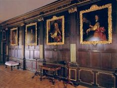 Hawkridge Hall (inspired by Ham House) -- the long gallery.