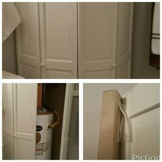 Water heater cover paint black and add a hook or 2 not for Hideaway screen doors home depot