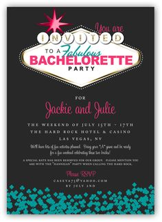 Fabulous Las Vegas Themed Party Invitation 4x6 by JamesPaigeDesign, $16.00