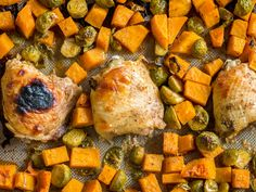 One-Pan Maple Dijon Roasted Chicken And Veggies