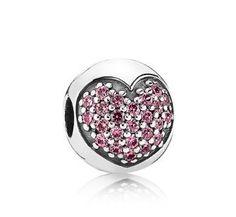 Pandora 791053CZS Pink Cubic Zirconia Pave Heart Clip 79349 #designerjewelry