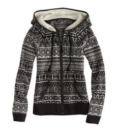 Polar Fleece Hoodie. I love this! It looks warm and snuggly and it's really cute! I love a zip hoodie.