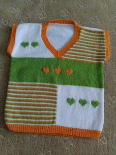 Baby Knitting Patterns, Baby Sweater Knitting Pattern, Knit Vest Pattern, Knit Baby Sweaters, Knitting Designs, Hand Knitting, Gents Sweater, Diy Crafts Knitting, Baby Vest