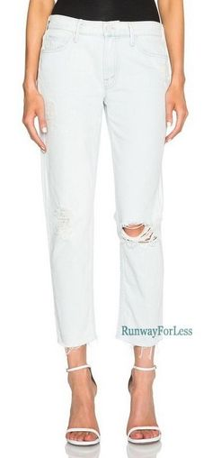 New Usa $196 ANTHROPOLOGIE Mother Jeans 32 The Dropout Fray Skinny Destroyed #Anthropologie #Boyfriend