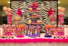 Dessert table for a girl's rockstar party