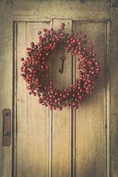 door and wreath