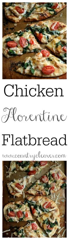 If you need a quick dinner, or an after school snack for your busy teen, try this Chicken Florentine Flatbread, or make it with any other easy summer veggie flatbread! Breaded Chicken Recipes, Best Chicken Recipes, Recipe Chicken, Cooking Recipes, Healthy Recipes, Easy Recipes, Healthy Pizza, Healthy Lunches, Pizza Recipes