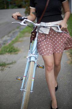 Polka dots and a bike.