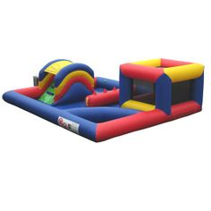 Playzones, Ball Ponds & Soft Play : Playzone with Curved Ballpond and Bouncing Bed AQ2590 www.airquee.co.uk