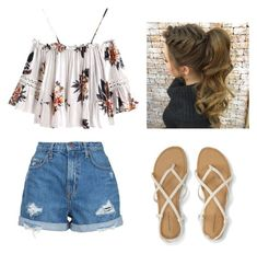 """Summer day"" by veera-vihmo on Polyvore featuring Nobody Denim"