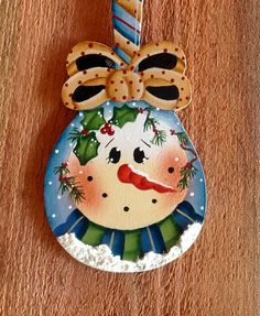 NEW 2017 Holiday Spoon Snowman Ornament