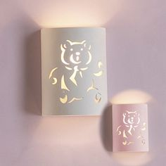 Teddy Bear Ceramic Wall Sconce- This Teddy Bear Ceramic Wall Sconce will add the perfect amount of light and decorative touch to the room. The ceramic cylinder sconce features a teddy bear cutout, an adorable option for nursery and kid's rooms. Save! 10% off When you buy 3 or More items from this Theme. Free Ground Shipping