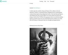 An article Aesthetic Essences of Tero Porthan's art in steemit Screenshots: The writer analyzes four artworks. {Artist}: Tero Porthan I r. Dark Souls Characters, Create Words, Effigy, Mythological Creatures, Witches, Mythology, My Arts, Artist, Artwork