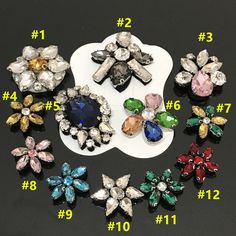 flower rhinestone beaded patches sew on embroidery patch applique toppe  patches for clothing parches para la ropa 644b233b17f8