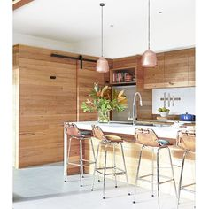 Timber Kitchen Design by @alterecodesign via @homebeautiful