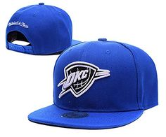 NBA Team Logo Blue Adjustable Hat Oklahoma City Thunder Fitted Cap -- Want to know more, click on the image.