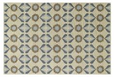 One Kings Lane - Kevin OBrien - Daisy Climber-Petals Rug, Blue