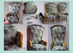 Pikkuprinsessan nukkekoti Willa Helmiina/Dollhouse to my little Princess: Koristeellinen ruokailutuoli/Decorative dining chair.