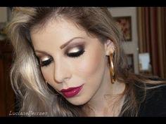 Maquiagem marcante, olho tudo e boca tudo, com Lu Ferraes - YouTube
