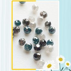 Gemsforjewels launches first time ever on Etsy-Sparkling Faceted Diamond Balls in Beautiful Colors-Blue, Yellow, Orange, White and Dark Grey. These lovelies have a brilliant cut and shine and are totally breathtaking!! Don't believe me- get them for real!