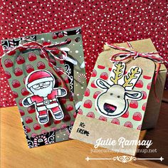 Julie Ramsay | Stampin' Up! Demonstrator | Cute Gift Bags and Boxes Using The Punch Boards | Click on the picture to see more of Julie's designs #creativejulesstamps #stampinupcanada