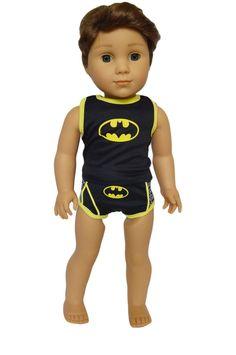 My Brittany's Superhero Underwear for American Girl Boy Dolls- 18 Inch Boy Doll Clothes: Superhero Underwear for Dolls American Boy Doll, American Doll Clothes, My Life Doll Clothes, Minnie Mouse Swimsuit, 18 Inch Boy Doll, Underwear Brands, Girl Cartoon, Girl Dolls, Boy Outfits
