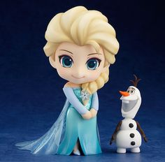 The Frozen Princess is being rereleased yet again! From the hit film 'Frozen' comes a rerelease of the Nendoroid of the Arendelle Royal Family's eldest daughter, Elsa! Anna Disney, Frozen Disney, Film Frozen, Anna Frozen, Cute Disney, Disney Art, Frozen Cake, Frozen Anime, Olaf Frozen