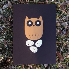Long-Eared Owl Print 10x14 from Jeff Barfoot and Shay Ometz co-founders of bee things, $25, now featured on Fab.