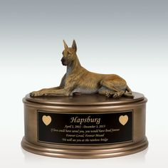 Great Dane Figurine Cremation Urn - Engravable Memorial Urns, Memorial Stones, Farewell Words, Only God Knows Why, Pointed Ears, Cremation Urns, Star Sky, Gentle Giant, Pet Memorials