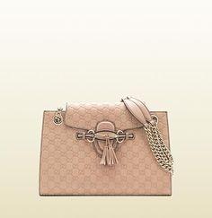 Gucci - emily antique rose guccissima leather shoulder bag