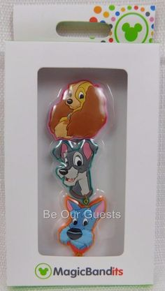 Disney Parks Magic Band Bandits Lady and the Tramp Wrist Charms Set of 3 New