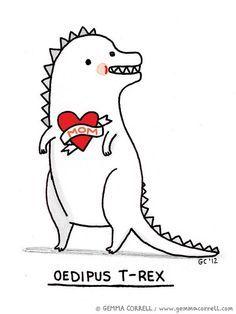 Dinosaur Funnies, Dinosaur Funny, Dino Mood, T Rex Humor, Rex Funnies, Rex Jokes, Cartoons Dinosaurs, Amusing Dinosaurs, Psych Humor