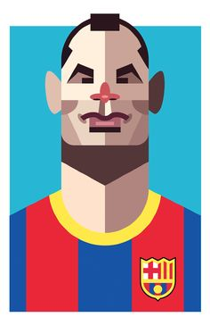 Andrés Iniesta - Playmakers - Daniel Nyari Graphic Design & Illustration