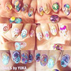 爪の宝石箱✨⚜ #nailsbyyuka #nail#naildesign#instanail#instagood#nails#fashion#gm#ネイル#ネイルアート#ショートネイル#ビジューネイル#夏ネイル#デコラティブ#名古屋#栄#表参道#南青山#宝石#キラキラ