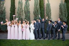 Palm Event Center Wedding | Having fun with the bridal party | Kirstin Burrows Photography