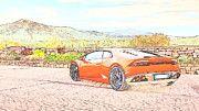 "New artwork for sale! - "" Lamborghini Huracan by PixBreak Art "" - http://ift.tt/2kQIA88"