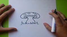 como dibujar un hongo - YouTube