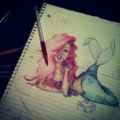 Little mermaid drawing