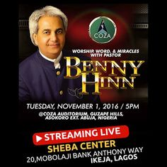 Thoughts of Our Fathers (TOF) : Benny Hinn at COZA Benny Hinn, Christian Devotions, Heavens, Fathers, Worship, Thoughts, Motivation, Words, Pastor